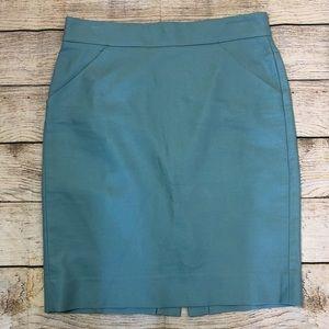 J Crew The Pencil Skirt Robins Egg Blue Sz 6